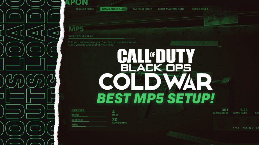 Black Ops Cold War Best MP5 Loadout