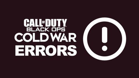 Black Ops Cold War Error Code Guide