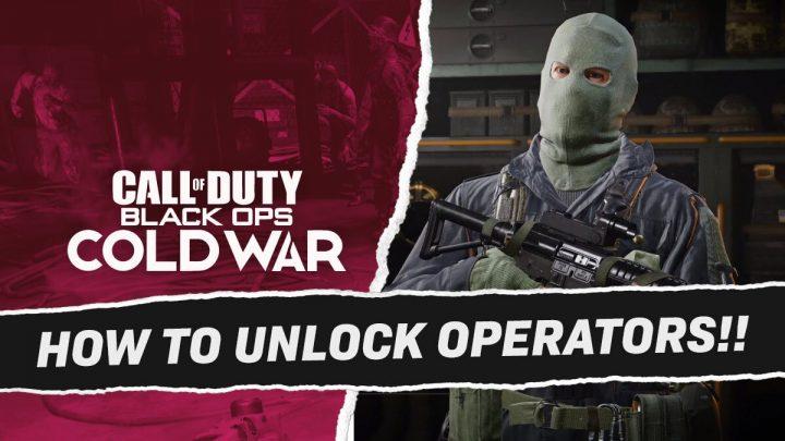 Black Ops Cold War Unlock All Operators