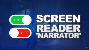 How To Turn Off : On Screen Reader Narrator PS5