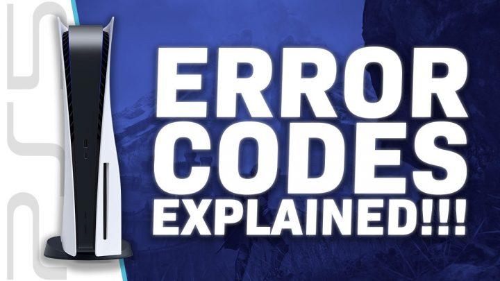 PS5 Error Codes