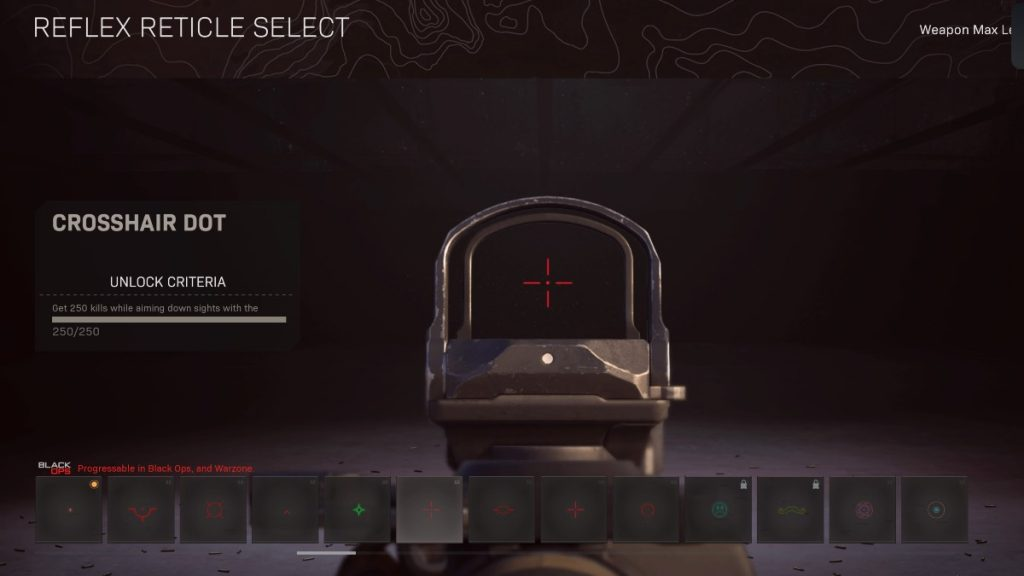 Cold War Warzone Best Reticles Crosshair Dot